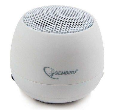 SPK-103-W Gembird Portable USB zvucnik 2W sa ugradjenom punjivom baterijom, lithium, WHITE (fo)