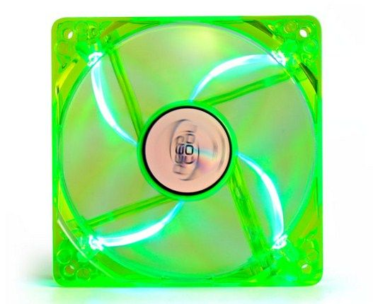 x-DeepCool XFAN120UG/B 120x120x25mm transparent green-blue light hydro bearing