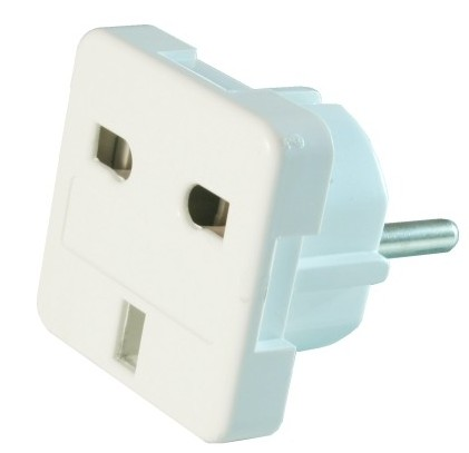 A-AC-UKEU-001 Gembird AC power adapter UK socket to EU Schuko plug 7.5A Travel Adapter