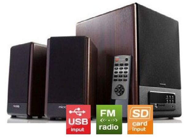 Microlab FC530U Akt. drveni zvucnici 2.1  64W RMS(28W,2x18W) SD, USB, FM , daljinski, 3.5mm