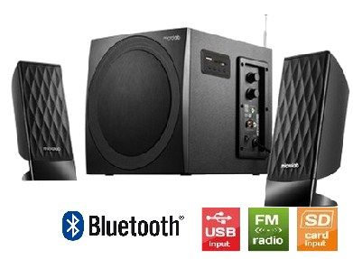 Microlab M-300BT * Drveni 2.1  38W RMS(14W,2x12W) SD, USB, FM, BLUETOOTH, black, 3.5mm (3599)
