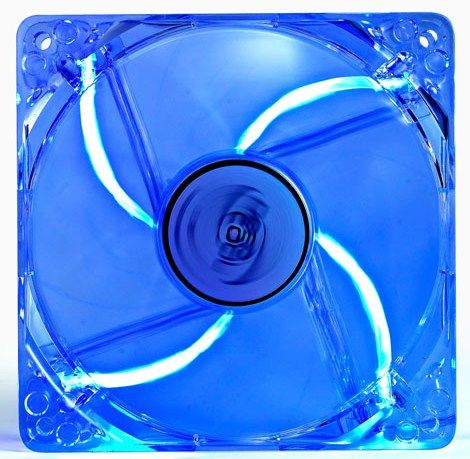 DeepCool XFAN120L/B *120x120x25mm ventilator transp-blue LED light hydr bearing 1300rpm 44.7CFM 26dB