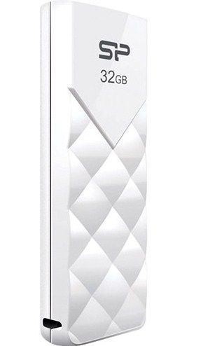 SiliconPower U03 * 32GB USB 2.0 WHITE, Elegant,SP032GBUF2U03V1W