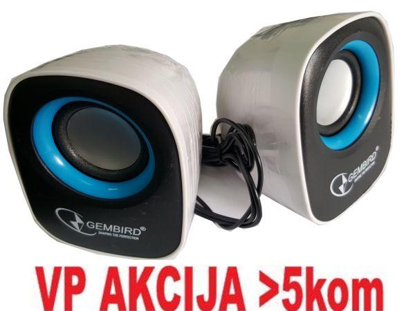 SPK-111 ** Gembird Stereo zvucnici black/black, 2 x 3W RMS USB pwr, 3.5mm kutija sa prozorom (374)