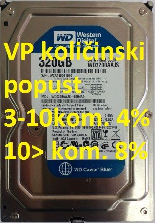 HDD 3.5'' ** 320GB WD3200AAJS WD BLUE 7200RPM 8MB SATA