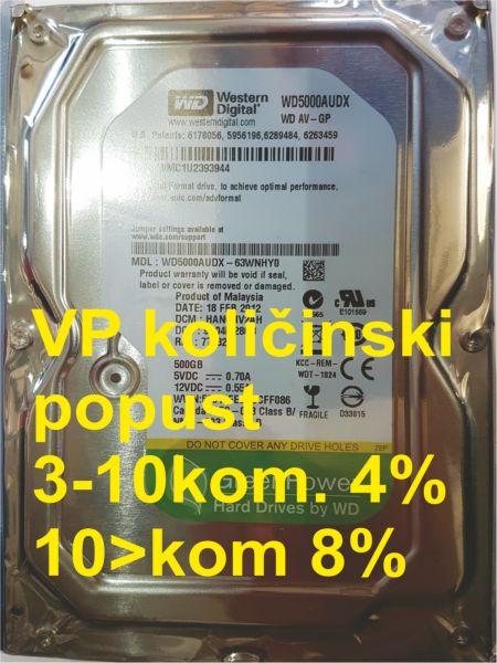 HDD 3.5'' ** 500GB WD5000AUDX  WD AV-GP GREEN IntelliPower 32MB SATA3