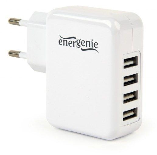 EG-U4AC-02 Gembird punjac za telefone i tablete 5v 3.1A 4xUSB white