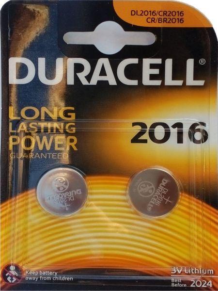x-Duracell 2016 LITHIUM 3V PAK2 CK baterije dugme