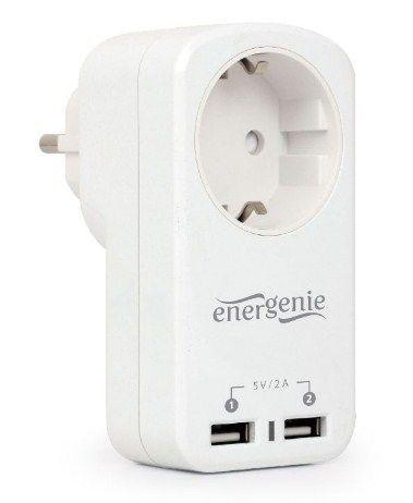 EG-ACU2-01-W Suko za utikac 2xUSB 2,1A