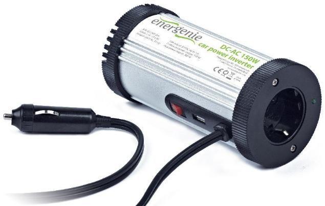 EG-PWC-031 Gembird 12V Auto inverter DC/AC 150W+USB port