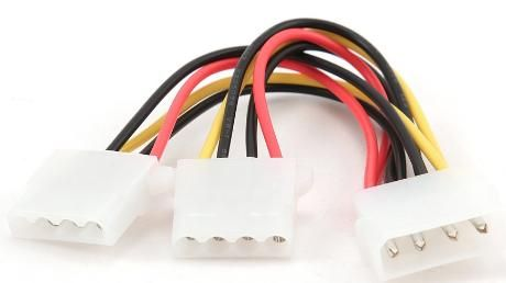 CC-PSU-1 Gembird Internal power MOLEX 4-pin splitter kabl 15cm