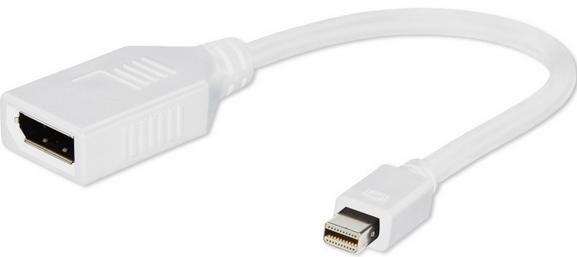 A-mDPM-DPF-001-W Gembird Mini DisplayPort (male) to DisplayPort (female) adapter white