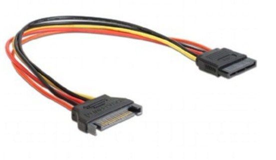 CC-SATAMF-01 Gembird SATA power extention cable, 0.3 m