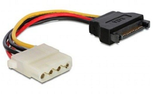 CC-SATA-PS-M Gembird SATA (male) to Molex (female) power cable, 0.15 m