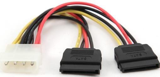 CC-SATA-PSY Gembird 2 xSerial ATA power supply kabl flat 15cm