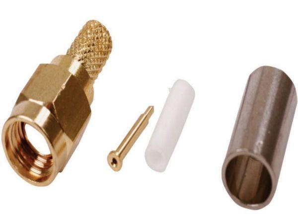 SMA-001 Sma male crimp plug gold plated