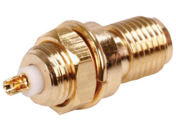 SMA-004 Sma female bulkhead plug gold plated