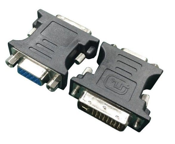 A-DVI-VGA-BK Gembird Adapter DVI-I 24-pin male to VGA 15-pin HD (3 rows) female, black DVI-I