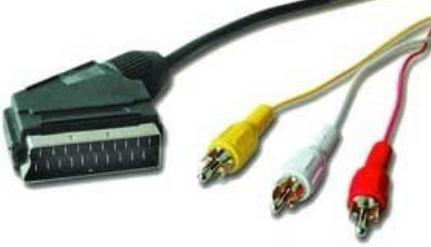 CCV-519 Gembird SCART plug to 3*RCA plugs video/audio kabl 1.8m