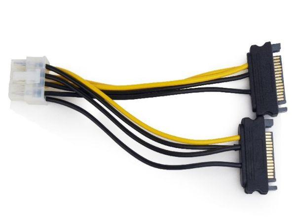 CC-PSU-83 Gembird SATA power adapter cable 8-pina for PCI express, 0.15 m