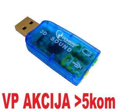 CMP-SOUNDUSB13 ** Gembird USB 5.1 3D zvucna karta, zamenjuje audio kontrolora u PC (SC-USB-01) (247)