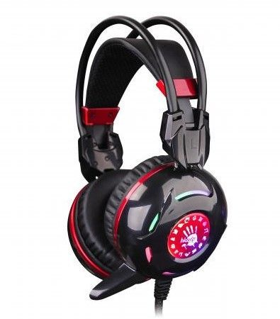 A4-G300 A4Tech Bloody Gejmerske slusalice sa mikrofonom, 40mm/32ohm, LED, 2x3,5mm + USB za PC