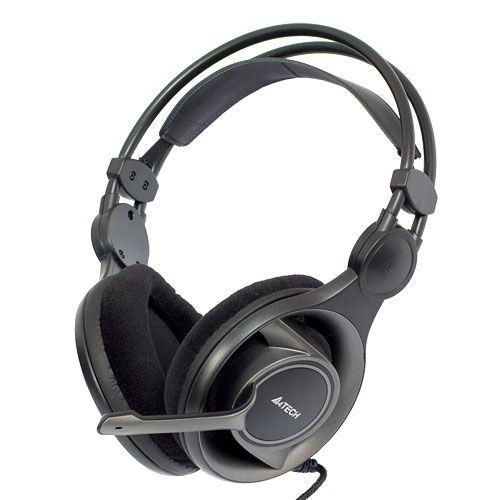A4-HS-100 A4Tech Gejmerske slusalice sa mikrofonom, 50mm/32ohm, black, 2x3,5mm