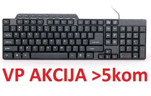 KB-UM-104 ** Gembird Multimedijalna tastatura US layout black USB(280)