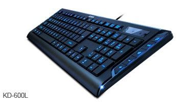 x-A4-KD-600L * A4Tech LED svetleca tastatura, USB, US layout, with blue backlight ( KD-126-1, 800L)