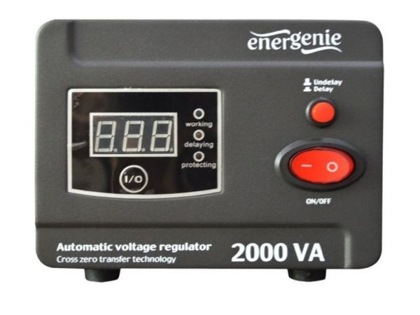 EG-AVR-D2000-01 Gembird Automatic voltage regulator and stabilizer ''Digital Series'', 2000VA