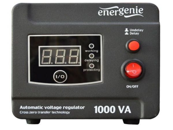 EG-AVR-D1000-01 Gembird Automatic voltage regulator and stabilizer ''Digital Series'', 1000VA