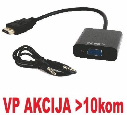 A-HDMI-VGA-06 ** Gembird  HDMI to VGA + AUDIO adapter cable, single port (479)