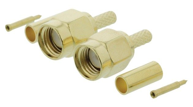 VLSP02900A Connector SMA Male Metal Gold