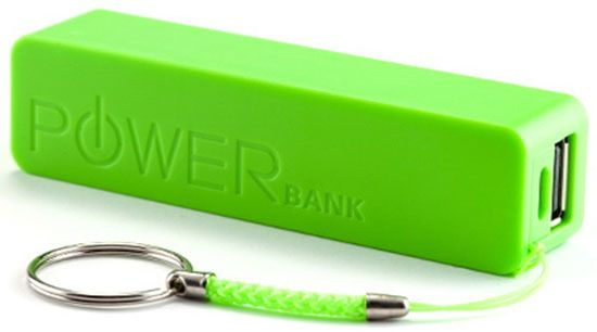 HRD-T19-GR * Gembird 2600mAh power bank Li-Ion 18650 (249)