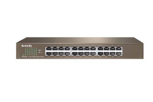 Tenda TEG1024D LAN 24-Port 10/100/1000M Base-T Ethernet ports (MDI/MDIX) Desk/rack mount(alt=G1024D)