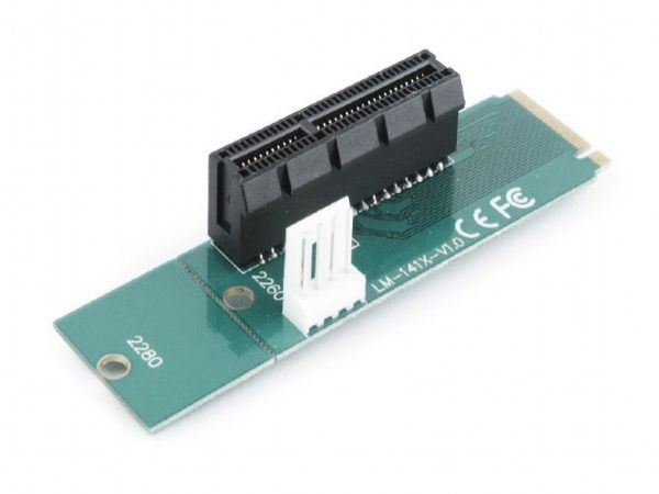 RC-M.2-01 Gembird PCI-Express to M.2 adapter add-on card