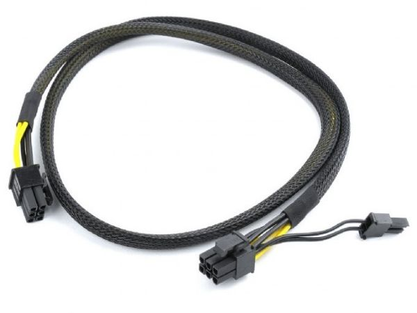 CC-PSU-86 Gembird PCI-Express 6-pin male to 6+2 pin male power cable, 0.8 m, mesh jacket