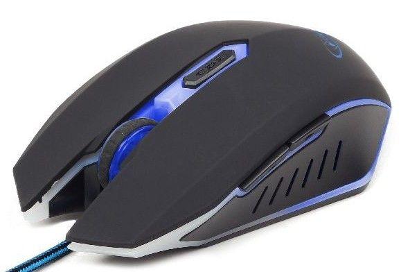 MUSG-001-B Gembird Gejmerski mis opticki sa plavim osvetljenjem 400-2400Dpi black