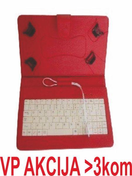 TA-PCK7-RED ** Gembird US Tastatura za 7'' Tablet PC sa futrolom ,sa micro USB konektorom(469)