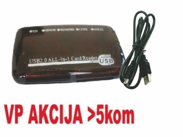 FD2-ALLIN1-BLK ** Gembird  USB2.0 citac svih tipova memorijskih kartica(319)