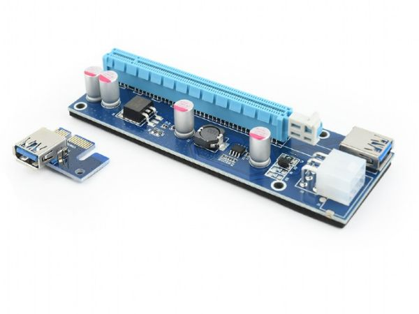 RC-PCIEX-03 Gembird PCI-Express riser add-on card, PCI-ex 6-pin power connector