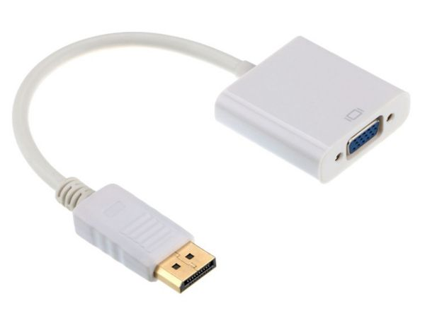 A-DPM-VGAF-02-W Gembird DisplayPort to VGA adapter cable, WHITE