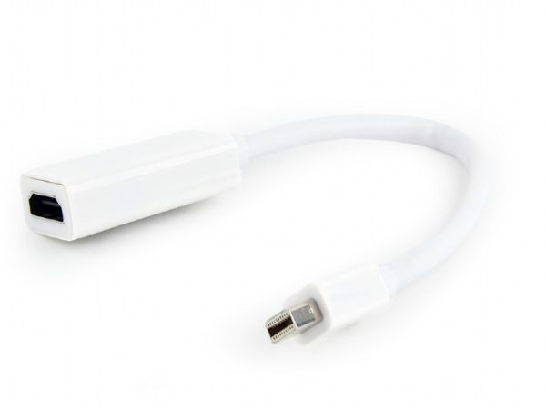 A-mDPM-HDMIF-02-W Gembird Mini DisplayPort to HDMI adapter cable, WHITE