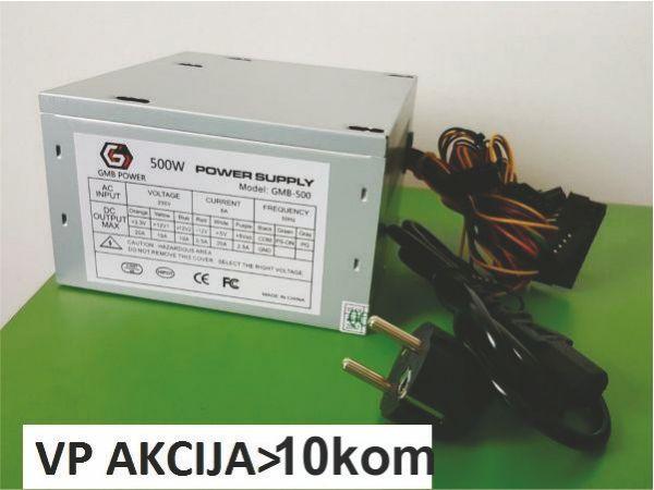 GMB-500-8 ** napajanje 500W 8cm ventilator, 20+4pin, 4pin 12V, 2xSATA 2xIDE 4-pin, bez kutije(770)
