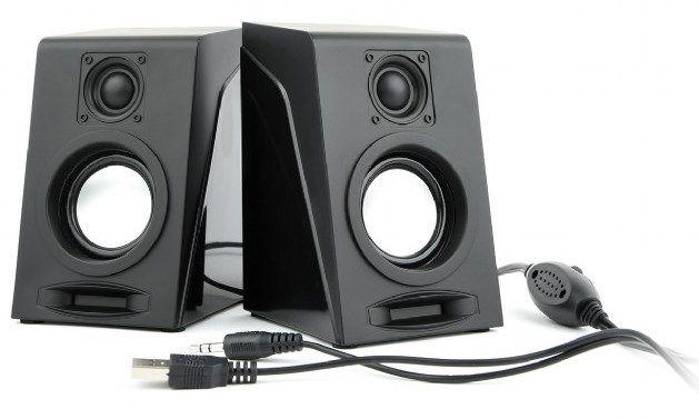 SPK-DU-03 Gembird Stereo zvucnici BREEZE black, 2 x 3W RMS USB pwr, 3.5mm FO
