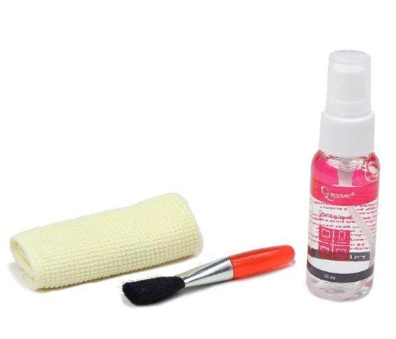 CK-LCD-04 Gembird Cleaning set 3 in 1, fluid 30ml + brush + towel, set za ciscenje