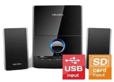 Microlab M-500U * Aktivni drveni zvucnici 2.1 40W RMS(16W,2x12W) 3.5mm, USB, SD (3999)