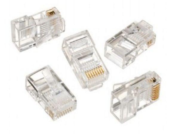 LC-8P8C-001/100 Modular plug 8P8C 30u'' CAT5 gold plated, 100 u pakovanju / CENA PO PAKOVANJU