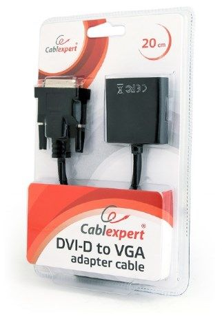 AB-DVID-VGAF-01 Gembird DVI-D to VGA adapter cable 24+1, black, blister FO