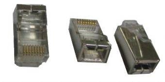 PLUG5SP Gembird shielded modular 30u gold plated LAN konektor RJ45 (pakovanje 100 kom)